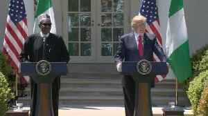 """News video: Reporter asks Nigerian president about """"shithole"""" comment"""
