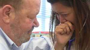 News video: Woman Cries as She Hears Loved One's Heart Beating in Another Man's Chest