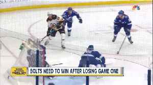 News video: Lightning looks to bounce back after Game 1 loss