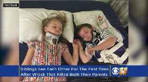 News video: Siblings Hold Hands For First Time Since Crash Killed Parents, Baby Sister