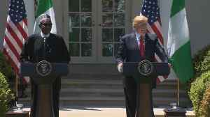 News video: Reporter asks Nigerian president about