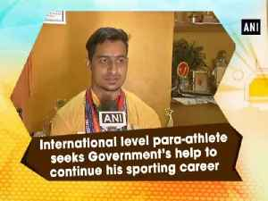 News video: International level para-athlete seeks Government's help to continue his sporting career