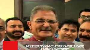 News video: J&K Deputy Cm Claims Kathua Case A Minor Incident
