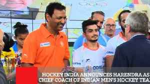 News video: Hockey India Announces Harendra As Chief Coach Of Indian Men's Hockey Team