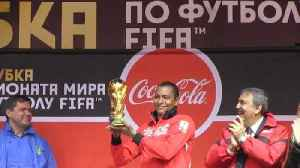 News video: FIFA World Cup trophy arrives in Russia