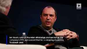News video: WhatsApp Co-Founder to Leave Company After Reported Disagreements with Facebook