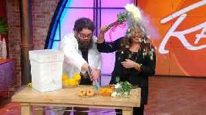 News video: Watch Rach Smash Food (and Flowers!) Frozen in Liquid Nitrogen With Kevin From