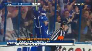 News video: Resilient Tampa Bay Lightning rebound to beat Boston Bruins 4-2 in Game 2