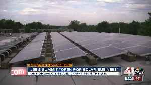 News video: Lee's Summit designated 'open for solar business'