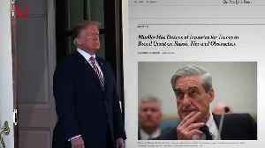 News video: Trump Slams 'Disgraceful' Leak of Mueller Questions, But Who Leaked Them?