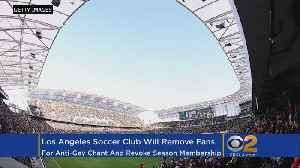 News video: LA Soccer Club To Remove Fans For Anti-Gay Chants