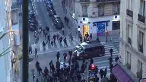News video: Protesters Flee Police During May Day Protests in Paris