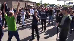 News video: Security Forces Deployed as Demonstrators Block Road to Airport in Armenian Capital