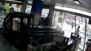News video: Dog Drives Truck and Crashes Into Store in China