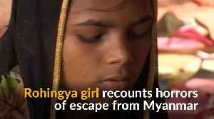 News video: Rohingya Muslim girl recounts harrowing escape from Myanmar's military