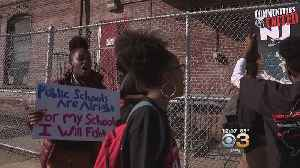 Students In Camden Protest Outside The City's Board Of Education Building