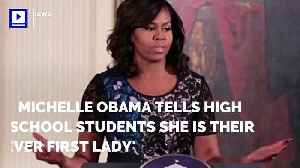News video: Michelle Obama Tells High School Students She is Their 'Forever First Lady'