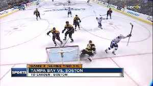 News video: Tampa Bay Lightning strike quickly in Game 3, beat Boston Bruins 4-1, lead playoff series 2-1