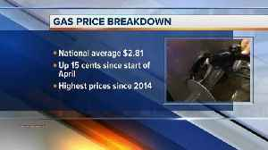 News video: Gas prices on the rise; highest since 2014