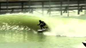 News video: Surf's up at Kelly Slater's artificial wavepool ahead of inaugural Founders Cup