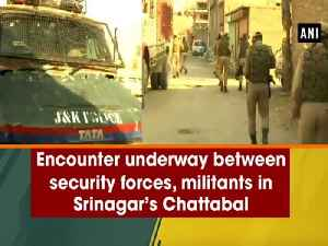 News video: Encounter underway between security forces, militants in Srinagar's Chattabal