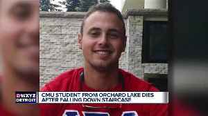 News video: Central Michigan student dies after falling down stairs