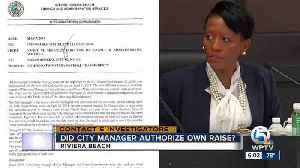Did Riviera Beach City Manager authorize own raise?