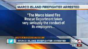 News video: Marco Island Firefighter Arrested