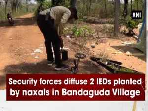 News video: Security forces diffuse 2 IEDs planted by naxals in Bandaguda Village