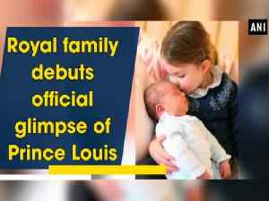 News video: Royal family debuts official glimpse of Prince Louis