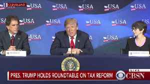 News video: At Ohio tax event, Trump says U.S. may need to