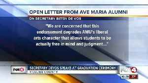 News video: Secretary DeVos Speaks at Ave Maria Graduation ceremony