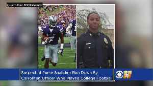 News video: Former College Football Player, Now North Texas Cop Picks Off Purse Snatcher
