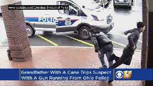 News video: Grandfather Trips Armed Suspect Fleeing From Police