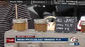 News video: Local farmers and artisans out at the Broad Ripple Farmer's Market
