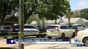 News video: Man found dead in crashed car in West Palm Beach on Saturday