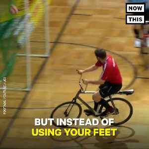 News video: Cycle Ball Combines Cycling And Soccer