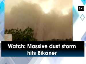 News video: Watch: Massive dust storm hits Bikaner
