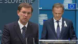 News video: Donald Tusk on two-day visit to Slovenia