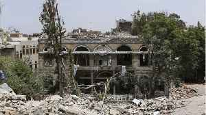 News video: Saudi-Led Air Strikes Hit Yemen Presidential Palace