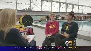 News video: USC Women's Water Polo Star Players Sit Down With KCAL9's Jill Arrington Ahead Of NCAA Tournament