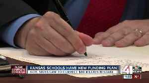 News video: Kansas schools have new funding plan