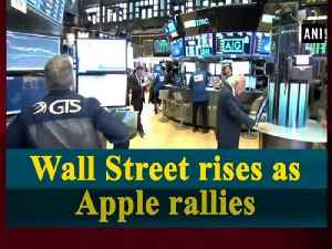 Wall Street rises as Apple rallies