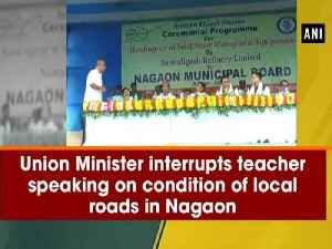 Union Minister interrupts teacher speaking on condition of local roads in Nagaon [Video]