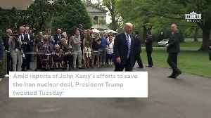 News video: Trump To Kerry On Iran Deal: 'Stay Away...You Are Hurting Your Country'