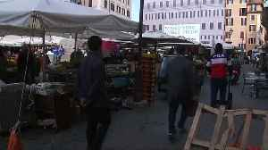 News video: Stock & fruit market traders fear new Italy election