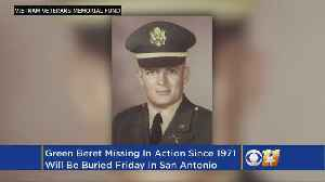 News video: Vietnam Veteran's Remains Identified, Burial Friday In Texas