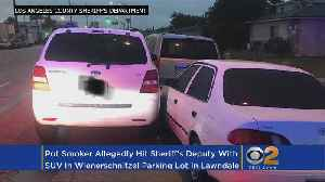 News video: Early Morning Pot Smoker Hits Deputy With SUV In Weinerschnitzel Lot, Authorities Report
