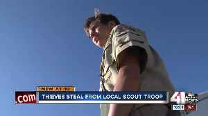 News video: Police looking for thieves who stole from Scouts