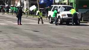 News video: Driver Hits 3 Protesters During UCLA Service Workers' Strike
